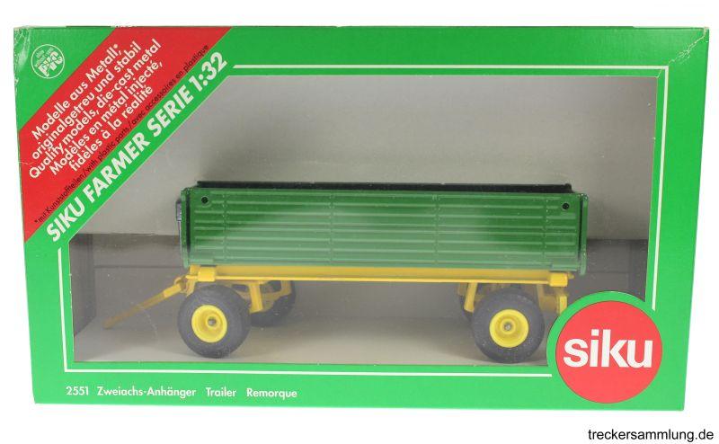 Siku 2551 - Zweiachs Anhäger grün Karton vorne