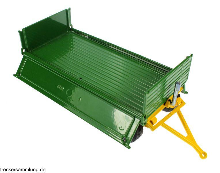 Siku 2551 - Zweiachs Anhäger grün komplett offen