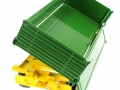 Siku 2551 - Zweiachs Anhäger grün hinten rechts offen