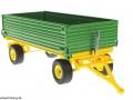Siku 2551 - Zweiachs Anhäger grün vorne rechts