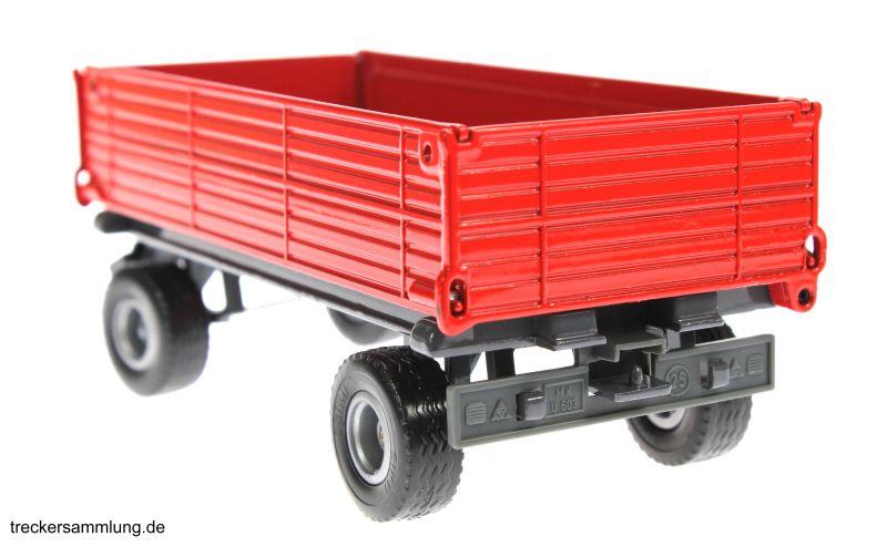 Siku 2551 - Zweiachs Anhäger rot hinten links