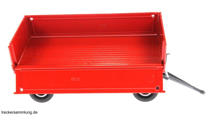 Siku 2551 - Zweiachs Anhäger rot gekippt rechts