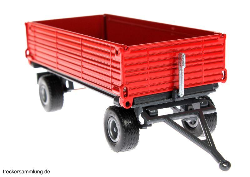 Siku 2551 - Zweiachs Anhäger rot vorne rechts