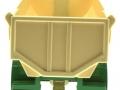 Siku 2871 - Halfpipe Muldenkipper Krampe grün-weiß hinten
