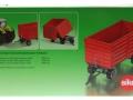 Siku 2898 - Zwei-Achs Anhänger Karton hinten