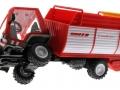 Siku 3061 - Lindner Unitrac mit Ladewagen gekippt