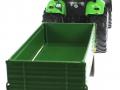Siku 3266 - 2551 - Deutz Fahr Agrotron mit Zweiachs-Anhänger hinten