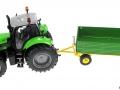 Siku 3266 - 2551 - Deutz Fahr Agrotron mit Zweiachs-Anhänger oben
