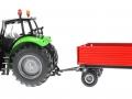 Siku 3266 - 2551 - Deutz Fahr Agrotron mit Zweiachs-Anhänger links