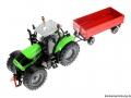 Siku 3266 - 2551 - Deutz Fahr Agrotron mit Zweiachs-Anhänger oben links