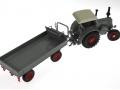 Siku 3459 und 3463 - Lanz Bulldog mit klassischem Anhänger oben hinten