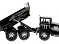 Siku 3526 - Dumper Truck - Blackline gekippt rechts