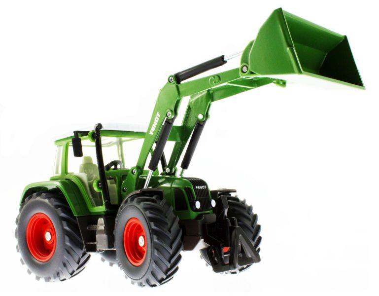 Siku 3554 - Traktor mit Schaufellader Fendt Vario 714 unten vorne rechts