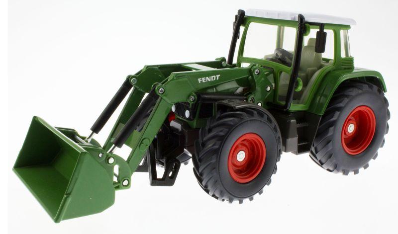 Siku 3554 - Traktor mit Schaufellader Fendt Vario 714 vorne links