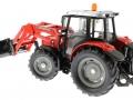 Siku 3653 - Traktor Massey Ferguson mit Frontgabel hinten links