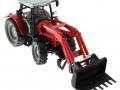 Siku 3653 - Traktor Massey Ferguson mit Frontgabel oben vorne rechts