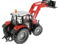 Siku 3653 - Traktor Massey Ferguson mit Frontgabel unten hinten rechts