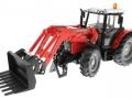 Siku 3653 - Traktor Massey Ferguson mit Frontgabel vorne links