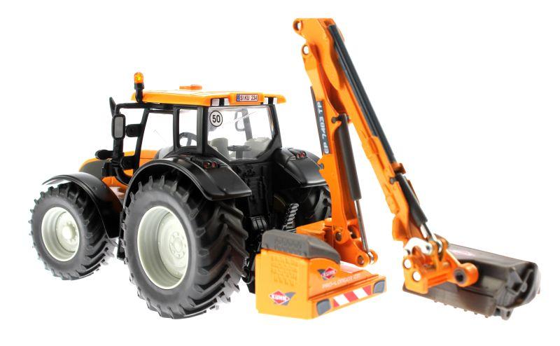 Siku 3659 - Valtra Traktor mit Kuhn Böschungsmähwerk hinten links