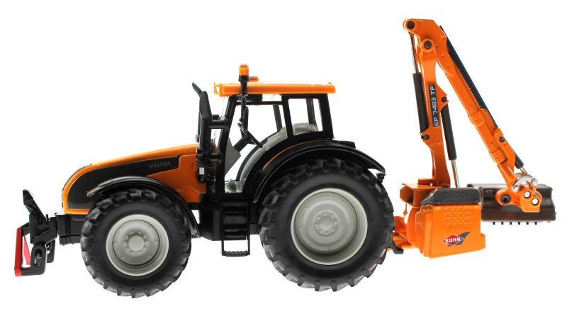 Siku 3659 - Valtra Traktor mit Kuhn Böschungsmähwerk links