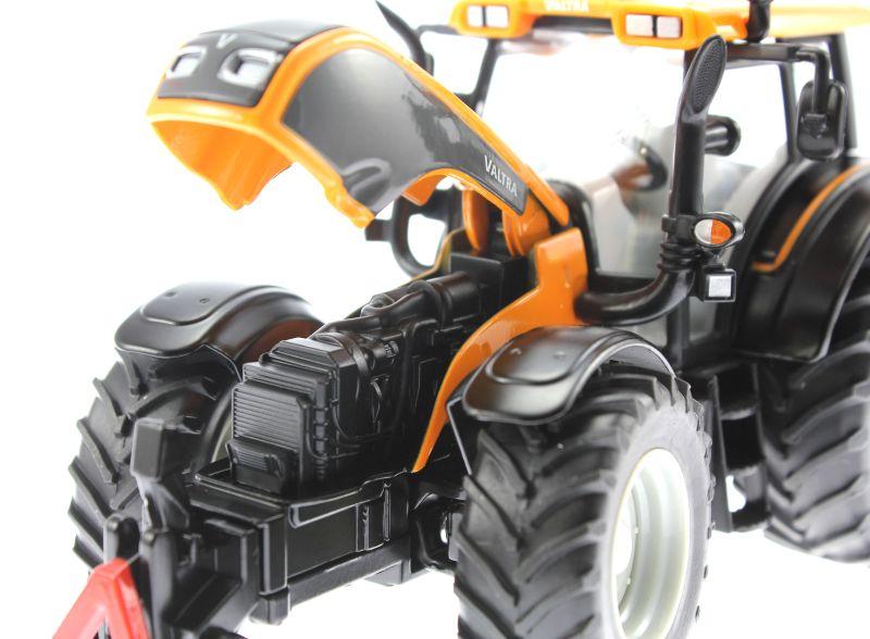 Siku 3659 - Valtra Traktor mit Kuhn Böschungsmähwerk Motor links