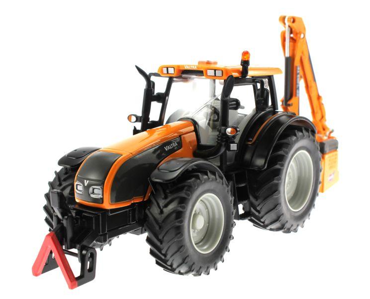 Siku 3659 - Valtra Traktor mit Kuhn Böschungsmähwerk vorne links
