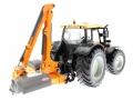 Siku 3659 - Valtra Traktor mit Kuhn Böschungsmähwerk hinten rechs