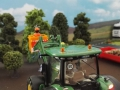 Siku Control 3661 - Anbaugeräte an Siku Control 32 John Deere 7R - Holzfäller von hinten