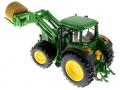 Siku 3862 - John Deere 6820 mit Frontlader und Rundballenanhänger Traktor oben hinten links
