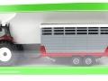 Siku 3870 - Steyr mit Viehanhänger Karton vorne