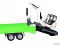 Siku 3920 LKW mit Raupenbagger Bagger auf Anhänger