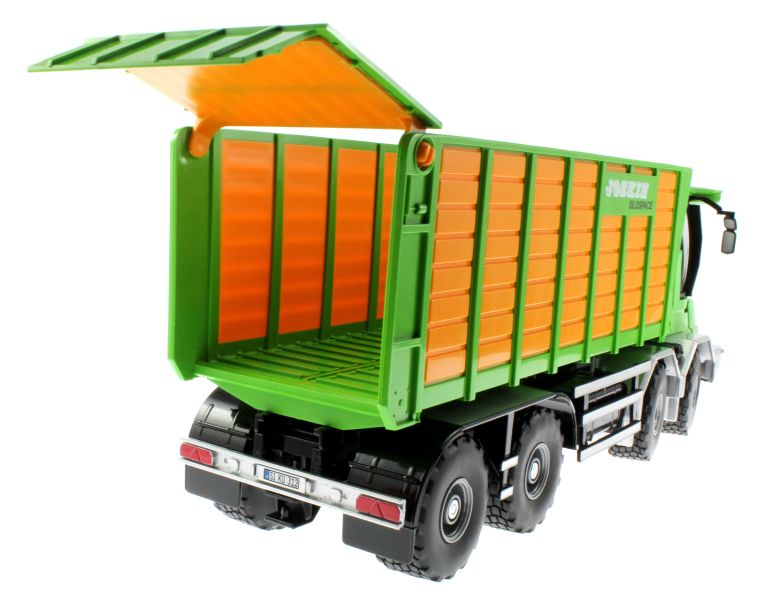 Siku 4064 - Joskin Silospace Cargo Track mit Ladewagen hinten rechts