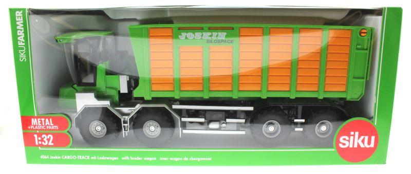 Siku 4064 - Joskin Silospace Cargo Track mit Ladewagen Karton vorne