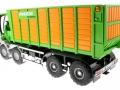 Siku 4064 - Joskin Silospace Cargo Track mit Ladewagen hinten links