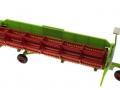 Siku 4253 - Mähdrescher Claas Lexion 600 Mähwerk auf Transportwagen