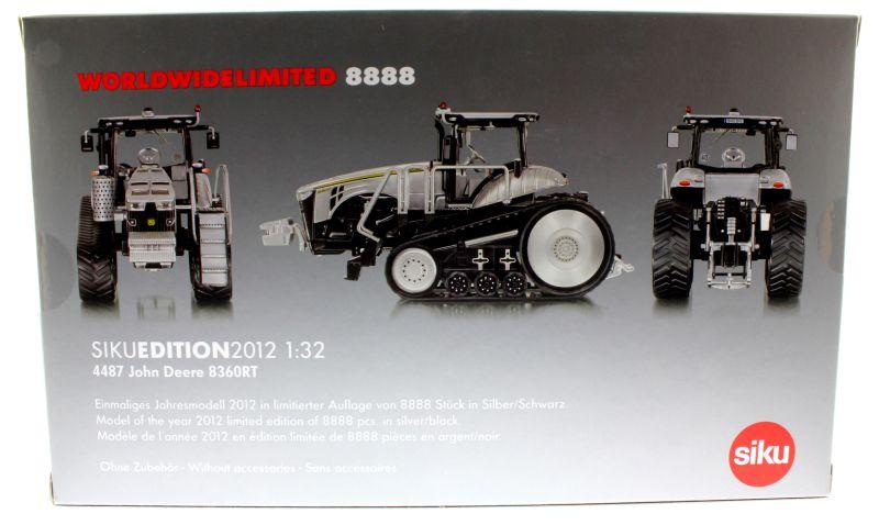 Siku 4487 - John Deere 8360RT - Silver Edition Karton hinten
