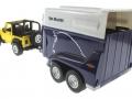 Siku 4670 - Jeep mit Pferdeanhänger hinten links
