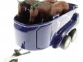 Siku 4670 - Jeep mit Pferdeanhänger Hänger offen
