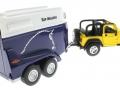 Siku 4670 - Jeep mit Pferdeanhänger hinten rechts