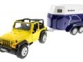 Siku 4670 - Jeep mit Pferdeanhänger vorne links