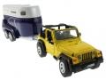 Siku 4670 - Jeep mit Pferdeanhänger vorne rechts
