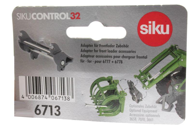 Siku 6713 - Adapter für Frontlader Zubehör für Control 32 John Deere und Fendt Pappe