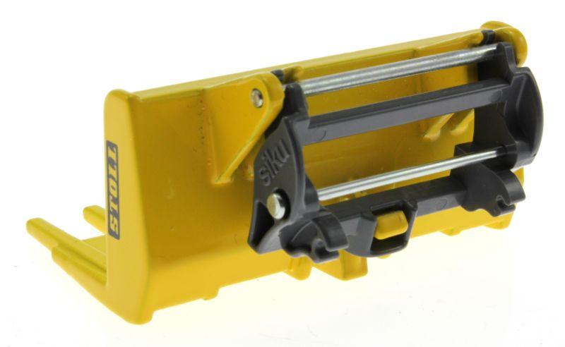 Siku 6713 - Adapter für Frontlader Zubehör für Control 32 mit Stoll Gabel gelb hinten