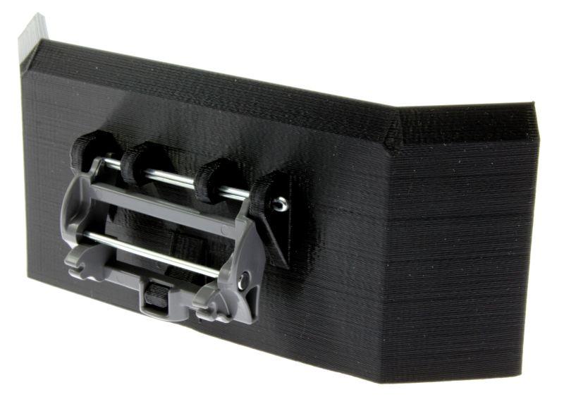 Siku 6713 - Adapter für Frontlader Zubehör  mit Treckerheld Jumbo Schiebeschild hinten