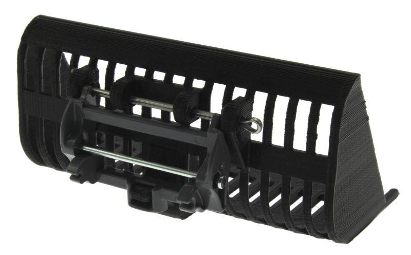 Siku 6713 - Adapter für Frontlader Zubehör  mit Treckerheld Rüben Schaufel hinten