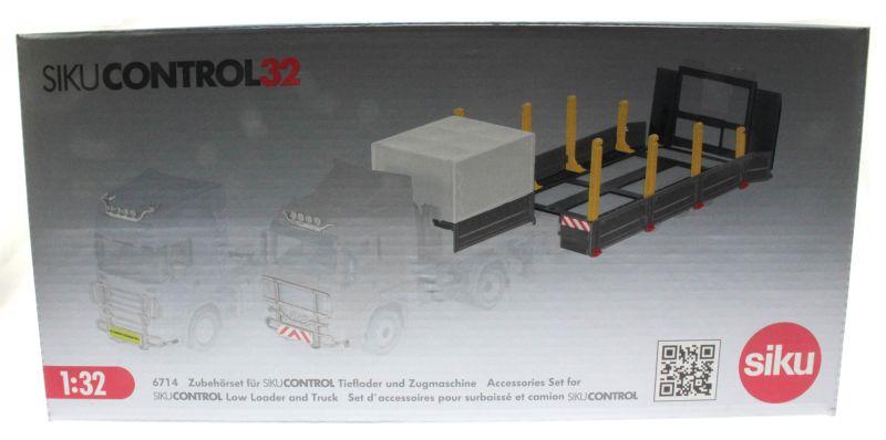 Siku 6714 - Zubehörset für Control 32 Tieflader und Zugmaschinen Karton vorne
