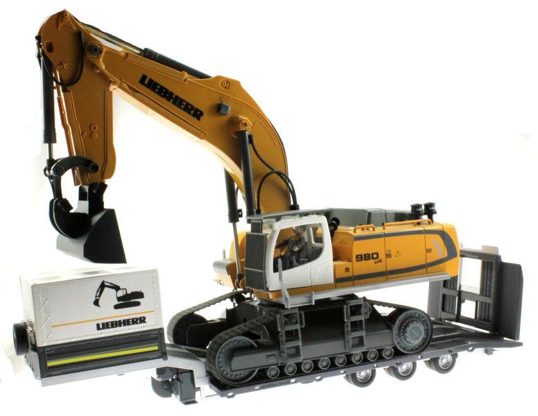 Siku 6714 - Zubehörset für Control 32 Tieflader und Zugmaschinen mit Bagger