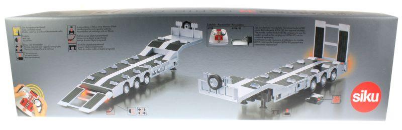Siku 6723 - Elektronischer 3-Achs Auflieger Control-32 Karton hinten