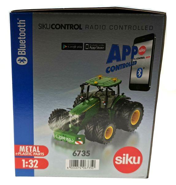 Siku 6735 - John Deere 7290R mit Doppelreifen - Control32 Karton Seite