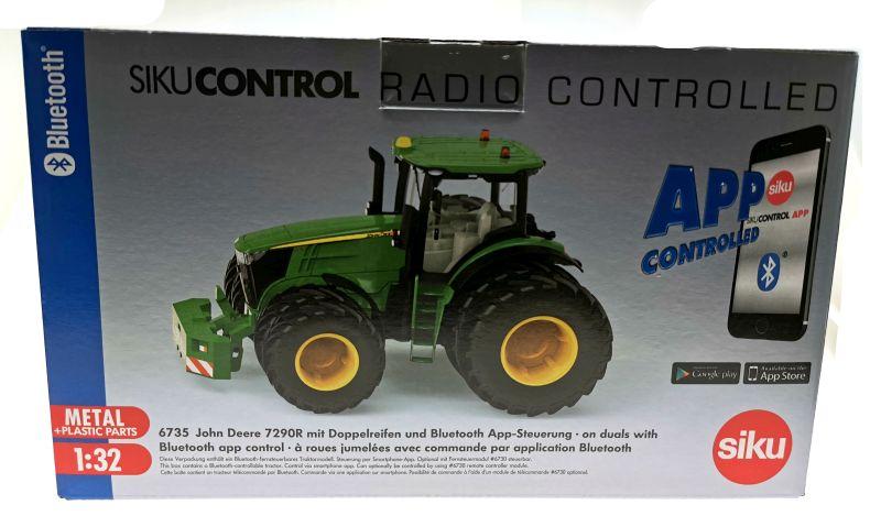 Siku 6735 - John Deere 7290R mit Doppelreifen - Control32 Karton vorne